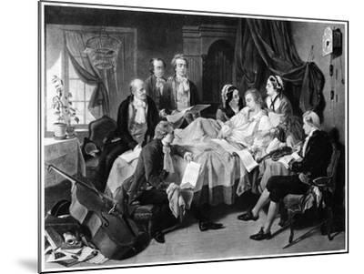 The Deathbed of Mozart, 1791--Mounted Giclee Print