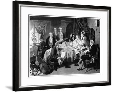 The Deathbed of Mozart, 1791--Framed Giclee Print