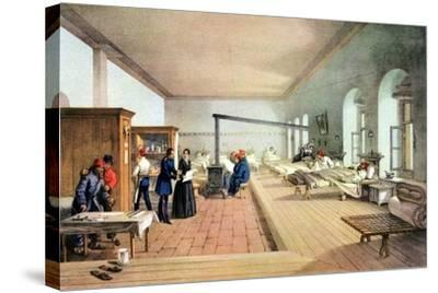 Florence Nightingale (1820-191), English Nursing Pioneer and Hospital Reformer-William Simpson-Stretched Canvas Print