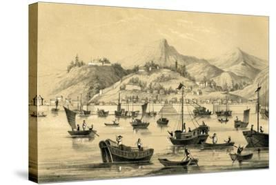 Shanghai, One of the Five Ports Opened by the Late Treaty to British Commerce, 1847--Stretched Canvas Print