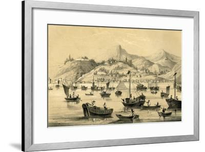 Shanghai, One of the Five Ports Opened by the Late Treaty to British Commerce, 1847--Framed Giclee Print