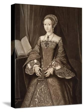 Princess Elizabeth, Later Queen, C1547--Stretched Canvas Print