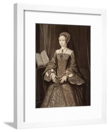 Princess Elizabeth, Later Queen, C1547--Framed Giclee Print