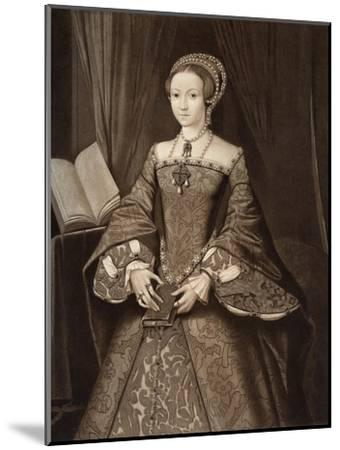 Princess Elizabeth, Later Queen, C1547--Mounted Giclee Print