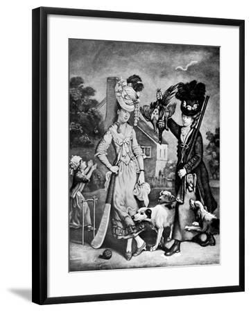 Miss Wicket and Miss Trigger, 1770-John Collet-Framed Giclee Print