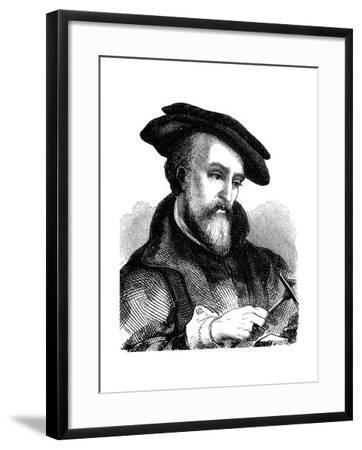 Georgius Agricola (1494-155), German Physician, Mineralogist and Metallurgist, 1881--Framed Giclee Print