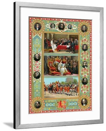 Scenes from the Reign of Queen Victoria, 1887--Framed Giclee Print