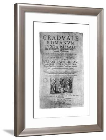 Title Page of a Missal Given by James II to John Brenan, 1894--Framed Giclee Print