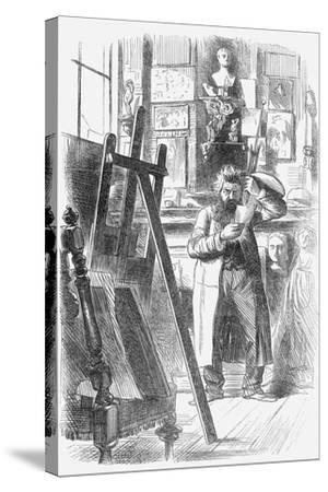 A Bohemian Artist in His Studio, 1859--Stretched Canvas Print