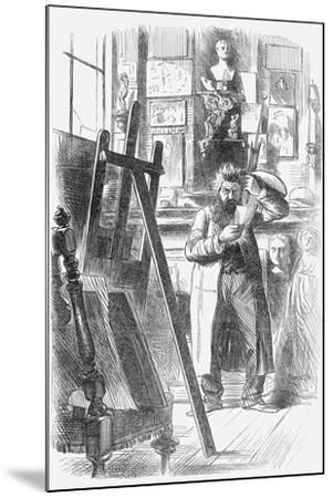 A Bohemian Artist in His Studio, 1859--Mounted Giclee Print