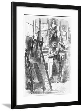 A Bohemian Artist in His Studio, 1859--Framed Giclee Print