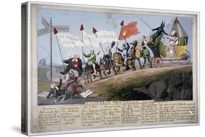 Queen Caroline's Procession-Theodore Lane-Stretched Canvas Print