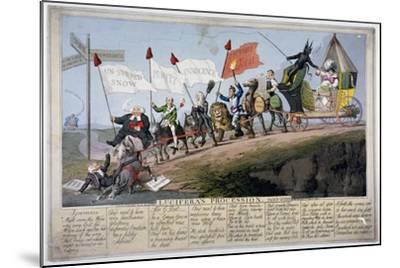 Queen Caroline's Procession-Theodore Lane-Mounted Giclee Print