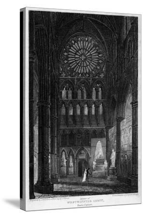 Poets' Corner, Westminster Abbey, London, 1815- Lewis-Stretched Canvas Print