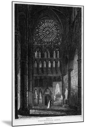 Poets' Corner, Westminster Abbey, London, 1815- Lewis-Mounted Giclee Print