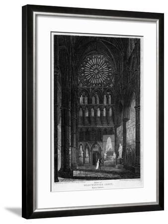 Poets' Corner, Westminster Abbey, London, 1815- Lewis-Framed Giclee Print