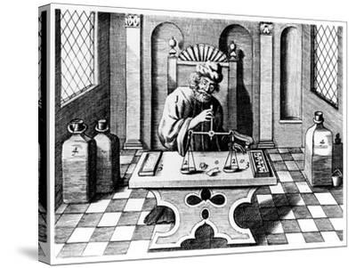 Assayer Testing Samples of Gold and Silver, 1683--Stretched Canvas Print