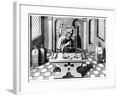 Assayer Testing Samples of Gold and Silver, 1683--Framed Giclee Print