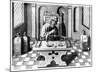 Assayer Testing Samples of Gold and Silver, 1683--Mounted Giclee Print