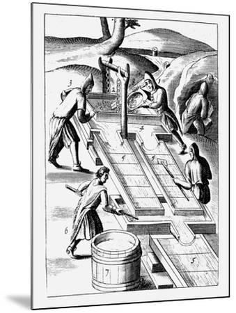 Washing Ore to Extract Gold, 1683--Mounted Giclee Print