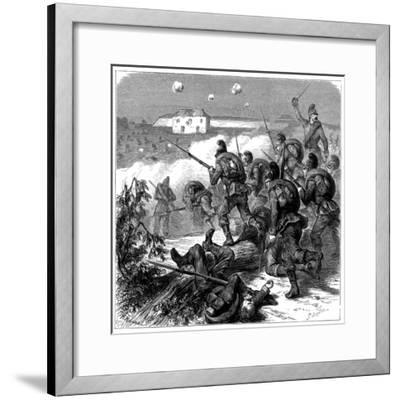 Bavarian Troops of the Prussian Army Storming Bicetre, Franco-Prussian War 1870--Framed Giclee Print