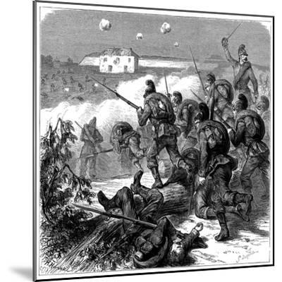 Bavarian Troops of the Prussian Army Storming Bicetre, Franco-Prussian War 1870--Mounted Giclee Print