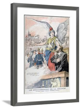 The Disarmament of France, the Wound Always Bleeds, Mr Jaures!, 1903--Framed Giclee Print