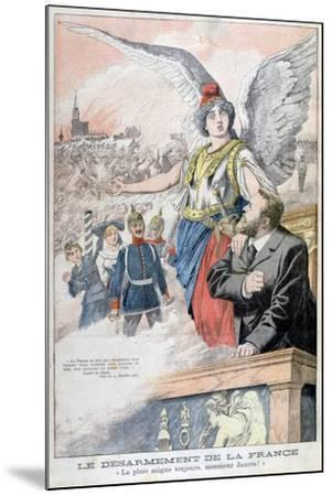 The Disarmament of France, the Wound Always Bleeds, Mr Jaures!, 1903--Mounted Giclee Print