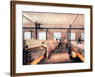 Spinning Cotton with Self-Acting Mules of the Type in 1825--Framed Giclee Print