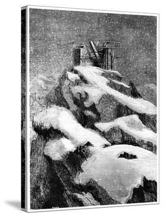 Illustration from De La Terre a La Lune by Jules Verne, 1865--Stretched Canvas Print