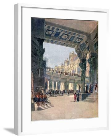Scene Two, Act Two, from the Opera Le Mage, by Jules Massenet, 1891--Framed Giclee Print
