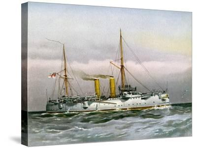 HMS Magicienne, Royal Navy 2nd Class Cruiser, C1890-C1893--Stretched Canvas Print