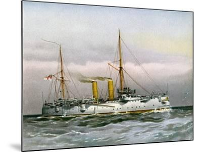 HMS Magicienne, Royal Navy 2nd Class Cruiser, C1890-C1893--Mounted Giclee Print