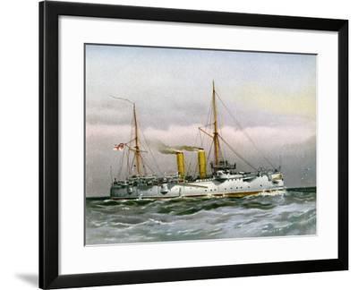 HMS Magicienne, Royal Navy 2nd Class Cruiser, C1890-C1893--Framed Giclee Print