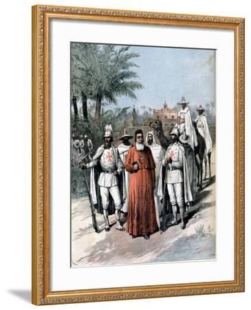 Cardinal Lavigerie, Founder of the Anti-Slavery Society, 1891--Framed Giclee Print