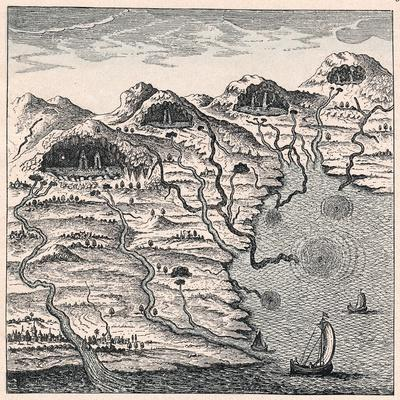Circulation of Water Between Sea and Mountains, 1665--Framed Giclee Print