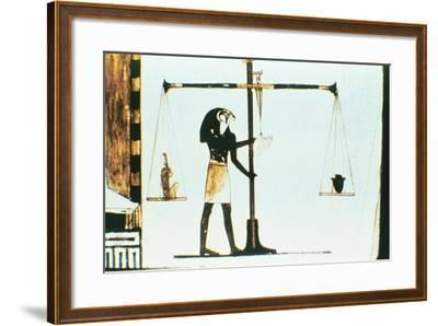 The God Horus Weighing the Heart of the Dead in a Balance, Ancient Egyptian, 28th Dynasty, C400 Bc--Framed Giclee Print