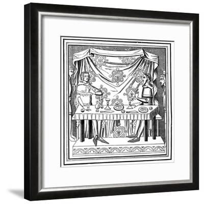 Louis of Taranto Instituting the Order of the Holy Ghost, 14th Century--Framed Giclee Print