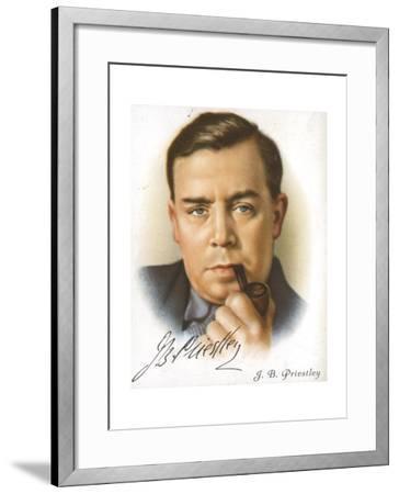 Jb Priestley, British Novelist, Playwright, Essayist and Broadcaster, C1927--Framed Giclee Print