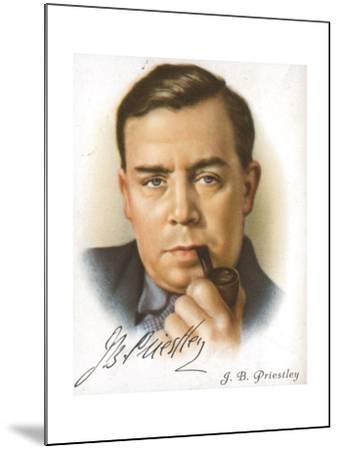 Jb Priestley, British Novelist, Playwright, Essayist and Broadcaster, C1927--Mounted Giclee Print