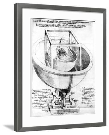 Kepler's Explanation of the Structure of the Planetary System, 1619--Framed Giclee Print