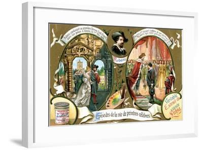 Episodes of the Life of Famous Painters: Rubens--Framed Giclee Print