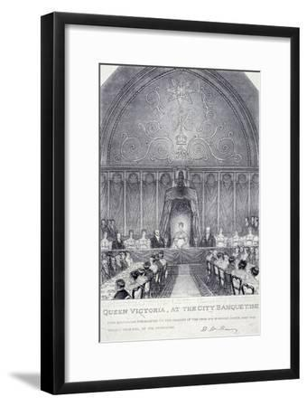 Queen Victoria at the Guildhall Banquet, London, 1837--Framed Giclee Print