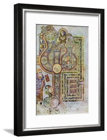 The Opening Words of St Matthew's Gospel, 800 Ad--Framed Giclee Print