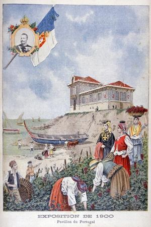 The Portuguese Pavilion at the Universal Exhibition of 1900, Paris, 1900--Stretched Canvas Print