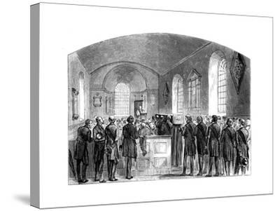 The Funeral of Sir Robert Peel, Staffordshire, 1850--Stretched Canvas Print