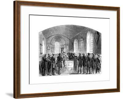 The Funeral of Sir Robert Peel, Staffordshire, 1850--Framed Giclee Print