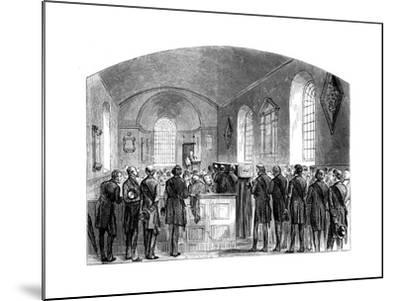 The Funeral of Sir Robert Peel, Staffordshire, 1850--Mounted Giclee Print