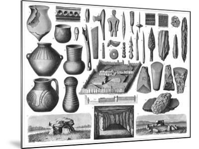 Neolithic Antiquities, 1901--Mounted Giclee Print