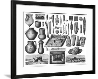 Neolithic Antiquities, 1901--Framed Giclee Print